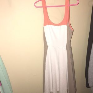 Pink and white express dress